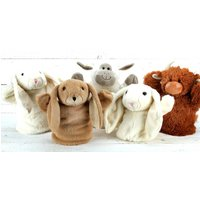 Hand Puppet Set Of Five Characters, From Birth