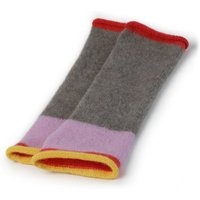 Pure Cashmere Wristwarmers With Stripe