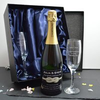 Tie The Knot Design Personalised Champagne Gift Set