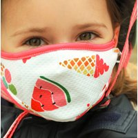 Ice Cream Sustainable Childrens Reusable Face Mask