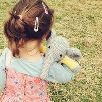 Handmade Crochet Elephant Soft Toy