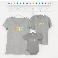 Pastel Besties Mum And Children Grey Set Of Three