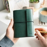 Personalised Leather Effect Embossed Notebook