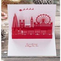 London Skyline Christmas Pop Up Card