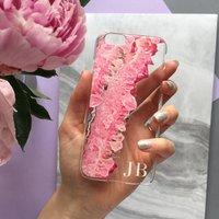 Pink Crystal Clear Monogram Phone Case