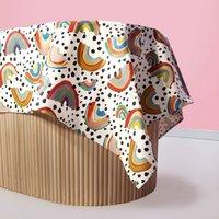 Rainbow Oilcloth Tablecloth