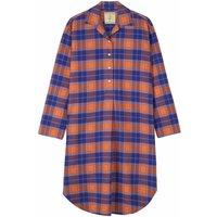 Womens Nightshirt In Tangerine Dream Tartan Flannel