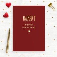 Foil Blocked Personalised Loved Ones Notebook