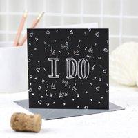 'I Do' Card