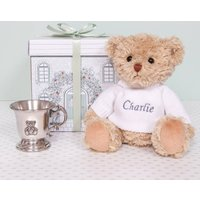 Bertie Bears Traditional Pewter Christening Cup