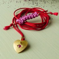 Wish 18ct Fairtrade Ruby Heart Ethical Pendant