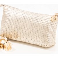 Make Up Or Clutch Bag, Gold/Silver/Navy