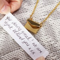 Envelope Personalised Locket Necklace Gift For Her