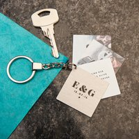 Personalised Couples Photo Book Keyring
