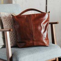 Leather Shoulder Bag, Tan