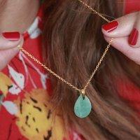 Polished Teardrop Gemstone Necklace