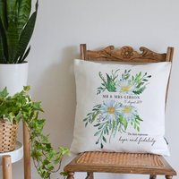 5th Wedding Anniversary Flower Cushion