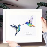Personalised Wedding Hummingbird Print