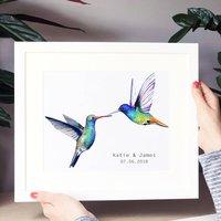 Personalised Wedding Hummingbird Print