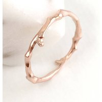 Twig Stacking Ring Or Wedding Ring In Nine Carat Gold, Gold