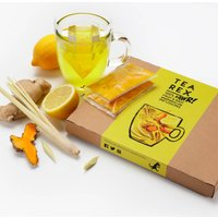 Fresh Lemon, Turmeric, Ginger And Lemongrass Tea
