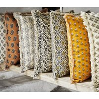 Printed Danish Cushions With Fringe