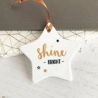 Shine Bright Star Ceramic Hanging