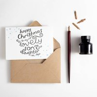 Son And Daughter In Law Letterpress Christmas Card