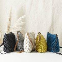 Fair Trade Knit Wool Crochet Bobble Cross Body Handbag