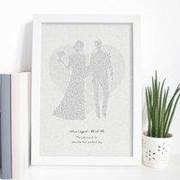 Wedding Song Typographic Lyrics Print