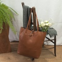 Caramel Soft Italian Leather Tote Shopper