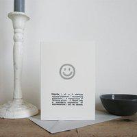 Smile Thank You Card
