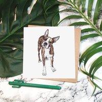 'Boris Boston Terrier' Greeting Card