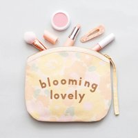 Blooming Lovely Floral Canvas Pouch