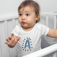 Personalised Alphabet Organic Babygrow