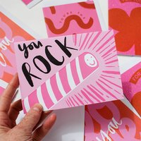 You Rock Greetings Card