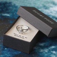 Turtle Sterling Silver Ring With Quote Card, Silver