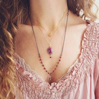 Ruby And Diamond Pave Necklace