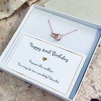 Twentieth Birthday Rings Necklace
