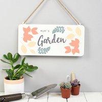 Personalised Metal Garden Sign, Coral/Cream/Grey