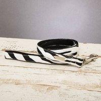 The Portobello Zebra Print Dog Lead