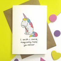 Unicorn Get Well Soon Card