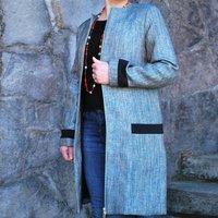 Imperia Smart Metallic Blue Coat, Blue