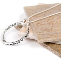 Sparkle Friend Silver Plated Message Necklace, Silver