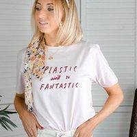 'Plastic Ain't So Fantastic' Illustrated T Shirt