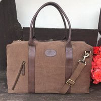 Unisex Canvas And Leather Holdall, Travel Bag, Gym Bag