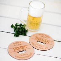 Moustache Personalised Coasters