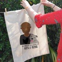 Personalised Dog Dad Tea Towel