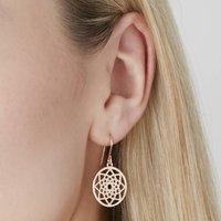 Dreamcatcher Hook Earring Silver, Gold Or Rose, Silver