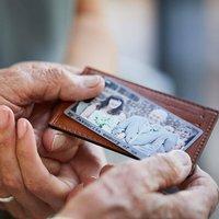 Personalised Stainless Steel Wallet Photo Card
